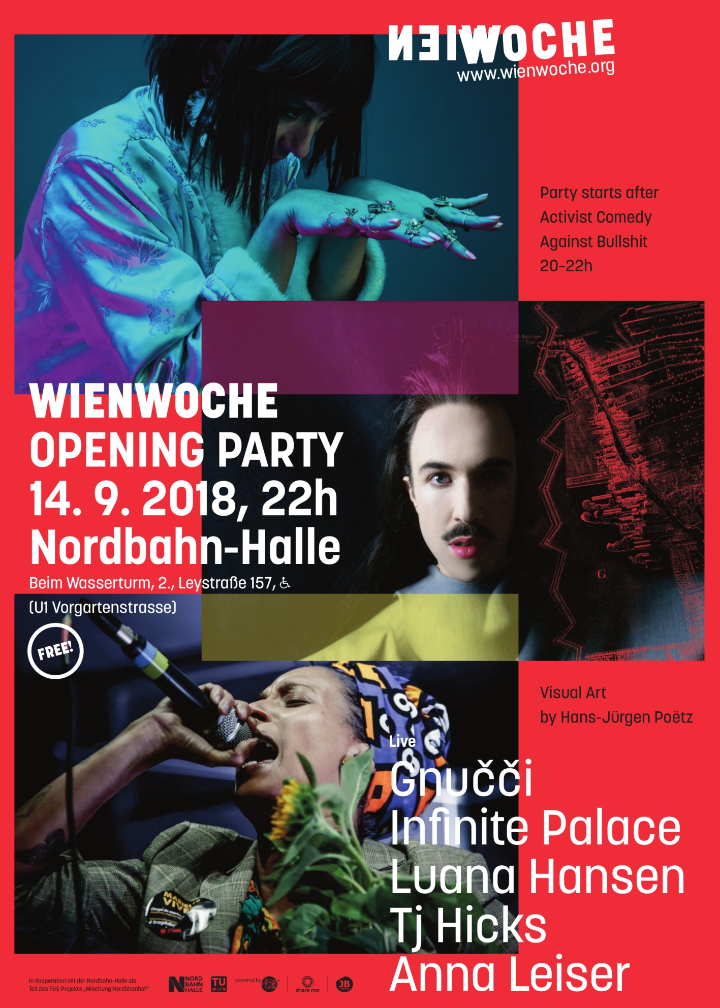 WIENWOCHE 2018 Opening Party Poster